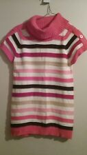 Girls Gymboree L 10-12 Star of the Show Cowl Neck Sweater Tunic Top Striped