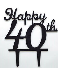 Happy 40th Birthday Anniversary Number Cake Topper Party Decoration Favor Sign