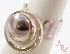 Sterling Silver Vintage 925 Modernist Spinner Ring Sz 5 (8g) - 745368