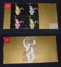 Vintage Andy Warhol 3 Christmas Tree Glass Tray Platter Studio Line Rosenthal