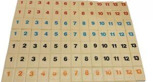 "Original Rummikub Full Set 104 Tiles 1998 Replacement Tiles 1""x1.5"""