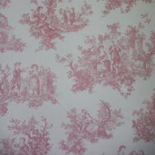 Provencale Toile De Jouy Wallpaper Raspberry 6120