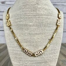 Vintage D'Orlan Gold Greek Key Chain Necklace