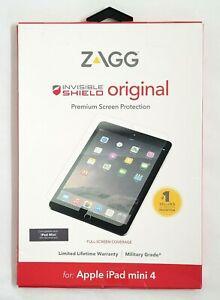 New ZAGG InvisibleShield Original Screen Protector for Apple iPad mini 4th & 5th
