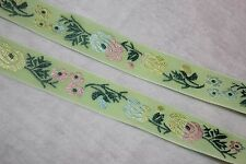 2 yards $1 Mint Lime Green Pink ombre jacquard woven sewing ribbon Trim 3/4""