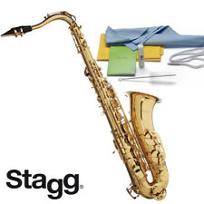 Stagg WS-TS215 Key of Bb Professional Series Tenor Saxophone with Cleaning Kit