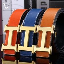 Cintura da uomo in pelle  abito regolabile fibbia liscia cintura 105-120 cm