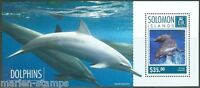 SOLOMON ISLANDS 2014 DOLPHINS  SOUVENIR SHEET  PERFORATED MINT NH