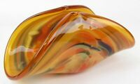 MURANO * Handmade Italy * Colorful Swirl Design Art Glass Bowl Vase Bowl
