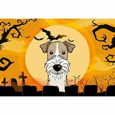 Caroline's Treasures Bb1805Plmt Halloween Wire Haired Fox Terrier Fabric Placema