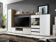 Timore 2 - tall tv stand for flat screens / modern entertainment wall unit