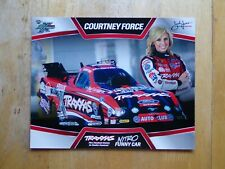 COURTNEY FORCE 2013 TRAXXAS NHRA Drag Racing NITRO Funny Car HANDOUT