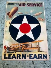 "TIN SIGN ""Join the Air Force"" Patriotic Military Signs  Rustic Wall Decor"