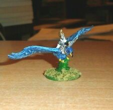 WARMASTER  10mm 1 high elf HERO ON EAGLE NICELY PAINTED WARHAMMER