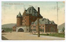 Vancouver C.P.R.  Train Station,  B.C. Canada, Vintage postcard, 1909