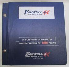 Vintage Farwell Ozmun Kirk & Co Hardware Wholesalers Catalog Tools St Paul Mn