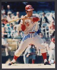 Johnny Bench Autographed 8x10 Color Photo Cincinnati Reds Global GAI certified