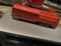 Vintage Marx Pressed Steel Lumar Lines Floor Red Train Engine