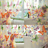 1 Butterfly Print Sheer Curtain Panel Window Balcony Tulle Room Divider Colorful