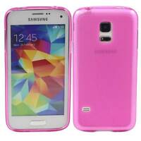 PINK SAMSUNG GALAXY S5 MINI SOFT GEL TPU SILICONE RUBBER CASE: FROSTED BACK M77