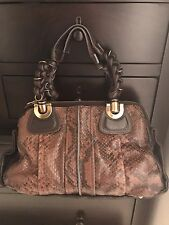 AUTHENTIC Chloe Heloise Satchel in Python