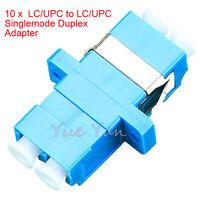 10 PCS LC/UPC to LC/UPC Duplex Single Mode Flange Plastic Fiber Optic Adapter