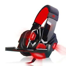 Surround Stereo Gaming Headset Headband Headphone  3.5mm Mic LED for PC Q&