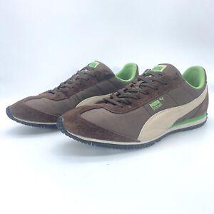 Puma Speeder Mesh Men's Brown Suede Running Sneakers Shoe sz 12 #345639-28
