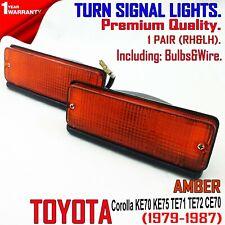 FOR TOYOTA COROLLA KE72 KE75 1979-87 Amber 2 pcs Front Bumper Turn Signal Lights