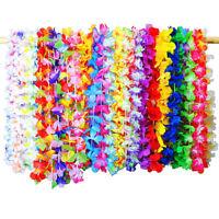 36Pcs Tropical Hawaiian Flower Garland Party Necklace Garlands Leis Supplies