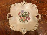 Diameter 31,5 Vintage Bavaria Germany Alka Kunst Handmalet Porcelain Plate Bowl