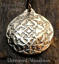 Universal Abundance - Pewter Pendant - Spiritual Growth Jewelry, Earth Changes