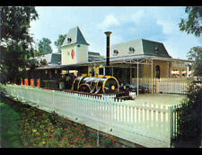 ERMENONVILLE / MER DE SABLE (60) PETIT TRAIN en GARE du ZOO JEAN RICHARD en 1972