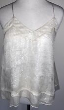 LoveShackFancy 'Amelia' Top in Ivory/Silver Size XS NWT
