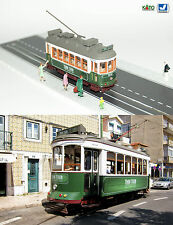 Green Lisbon Tram HO/N gauge (HOe) - motorized with light NEW Analog or Digital