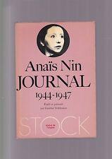 Anaïs Nin JOURNAL 1944 - 1947 c. Gunther Stuhlmann, 4 vol.