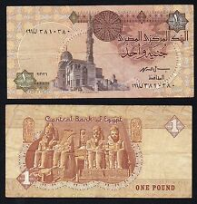 1 pound Central Bank of Egypt  BB/VF  //