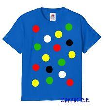Children's Spotty Dotty T Shirt Boy's or girl's Childrens Spots Day Kids Tee