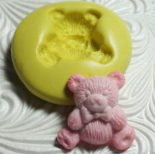 BEAR Mold Silcone Resin Polymer Clay Fondant Flexible Push Mould
