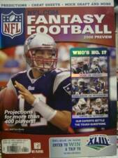 NFL Fantasy Football 2008 Preview Magazine With 400+ Players