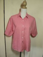 simona   warm pink linen shirt
