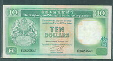 Hong Kong HSBC $10 1990 vf+