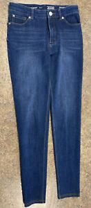 Peter Nygard Jeans Women Blue Mid-Rise True Skinny 5 Pocket Flawless Jean Size 6