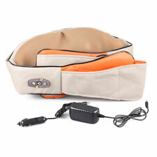 12v Electric Shiatsu Kneading Neck Shoulder Body Back Waist Heat Massager UK Massage Pillow