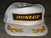 VINTAGE Dunlop Snapback Trucker Hat Mesh Cap OTTO Brand Gold wings leaf ANTIQUE