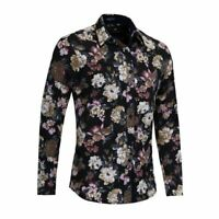 New Casual Fashion Mens Long Sleeve Casual Stylish Luxury Dress Shirts Slim Fit