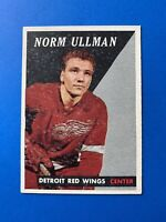 Norm Ullman 1958-59 Topps Hockey Card #65 Detroit Red Wings