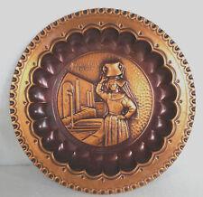 Piatto da collezione in rame - RICORDO DELLA CIOCIARIA - cm.24,3 - VINTAGE