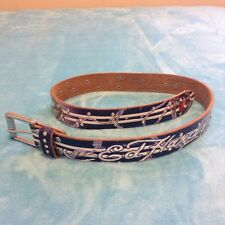 Ed Hardy By Christian Audigier Women's Leather Colorful Belt Rhinestones M