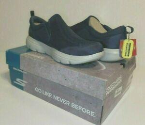 Skechers Ortholite Size 14 M GO WALK Navy Gray Slip On Sneakers New Men's Shoes